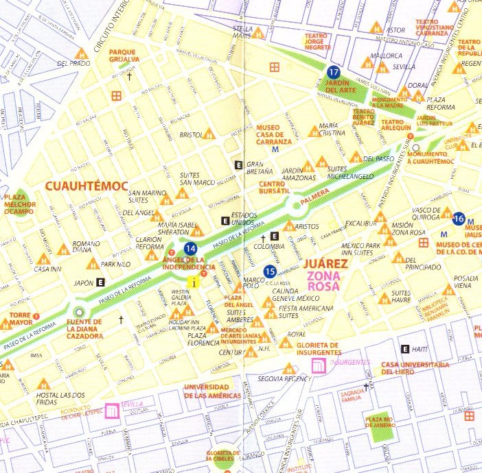 mexico city subway tourist map mexico city